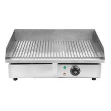 3kw electric grill griddle commercial machine cooking area kitchen food bbq