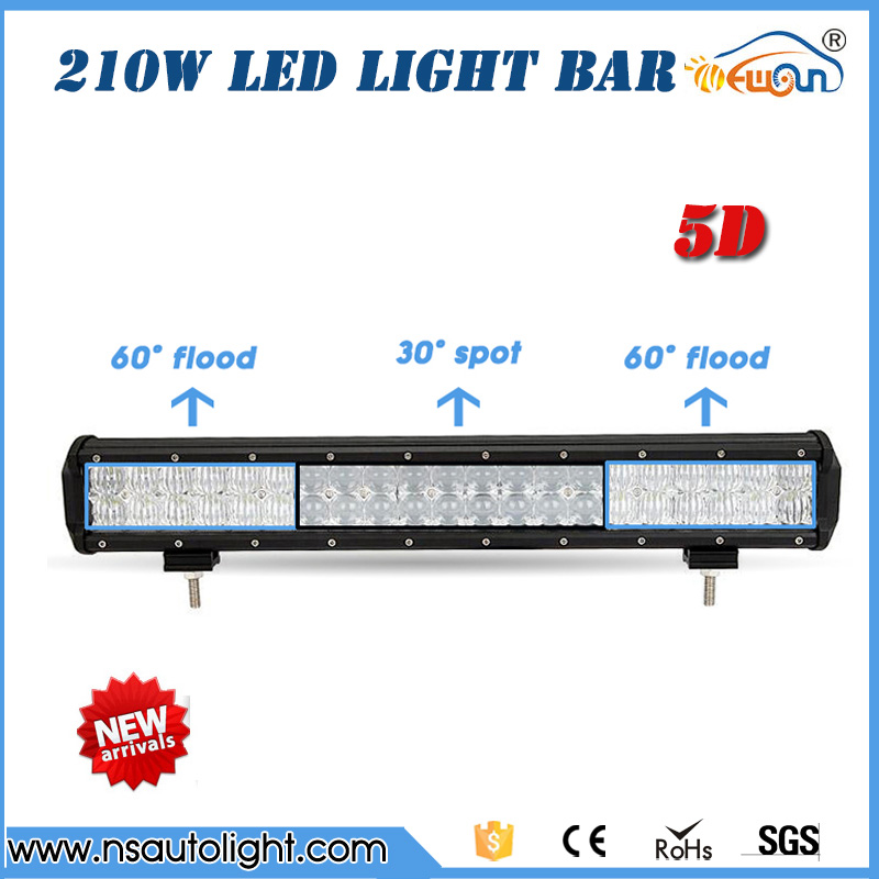 210W 5D LED Light Bar 4X4 Offroad Led Work Light Bar straight combo beam  Roof Offroad SUV ATV UTV 20inch led working light octeapus tea infuser fred