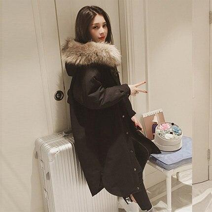 5XL taglie Eurasia di Inverno delle signore Giacca Nera di Buona Qulity Parka Mujer Teddy Cappotto Corto Cappotto di Modo Per La Universal Studente - 5