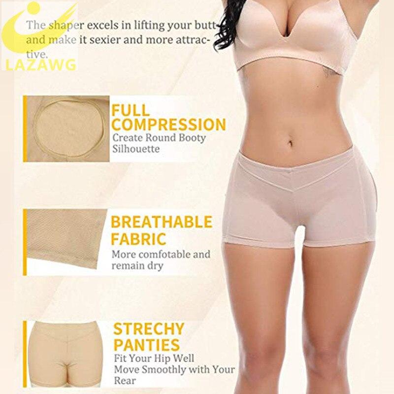LAZAWG Women Sexy Butt Lifter Control Panties Seamless Body Shaper Shapewear Briefs Push Up Underwear Ass Lift Up Panty Short in Control Panties from Underwear Sleepwears