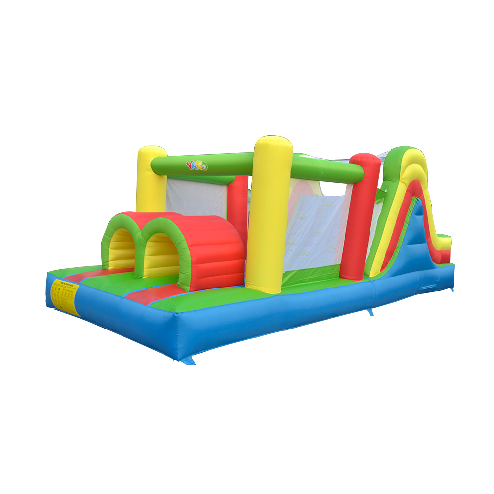 YARD Inflatable Jumping Castle 6.5x2.8x2.7m Double Big Slides Kids PVC Oxford Inflatable Trampoline Castle Bouncer With Blower yard inflatable games castle bouncer house jumping slides free pe balls inflatabletrampolines oxford pvc kids children bouncer