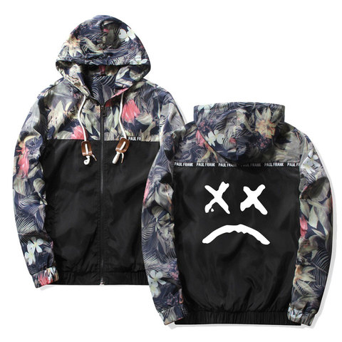 Frdun Tommy Lil Peep Sad Hooded Jackets Windbreaker Men Jackets Coats Sweatshirt Men Hip Hop Zipper Lightweight Jackets Bomber Lahore