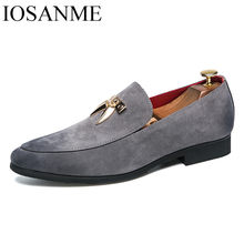 d1fb9507 En Punta borla cuero formal hombres zapatos de lujo marca italiano  deslizamiento en calzado masculino fresco