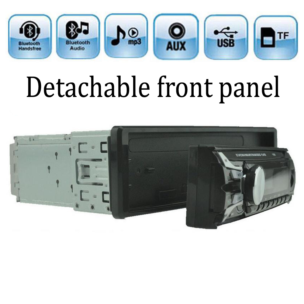 Car Radio Detachable front panel Seperable front panel 1 DIN In Dash FM and MP3 Stereo Radio Aux USB SD Card bluetooth