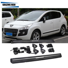aluminium Automatic scaling Electric pedal side step running board for 2013+ 3008