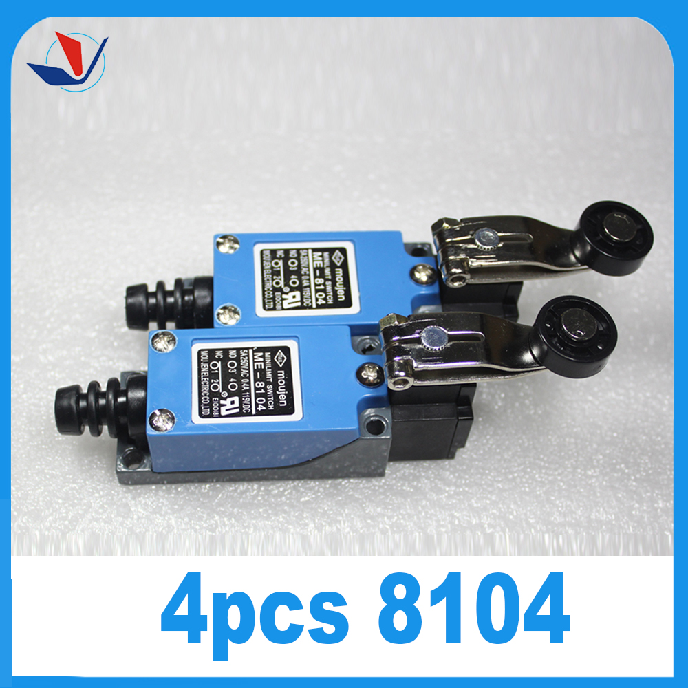 4Pcs ME-8104 Rotary Plastic Roller Arm Enclosed Limit Switch Finish Machine professional electrical switches dustproof rotary roller lever limit switch overtravel limit for cnc mill laser plasma me 8108