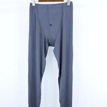 Men Sleep Pants Modal trousers Urine hole Thin Solid color p