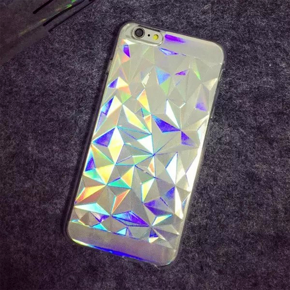 competitive price 07e96 b2785 3D Diamond Laser Melting Rainbow Color ForiPhone 6/6S Case Hologram  Iridescent Triangle Pastel Phone Cases For iPhone 6 Plus-in Phone Cases  from ...