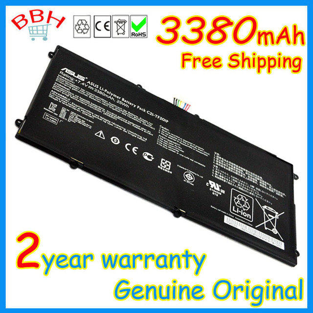 NEW!genuine original 3380mAh C21-TF201P tablet PC battery for  ASUS Eee Pad Transformer pad prime TF201 high quality