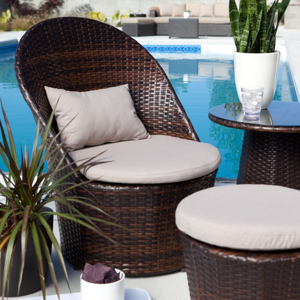 Layton All Weather Wicker Balcony Outdoor Chat Set In Garden Sofas From  Furniture On Aliexpress.com   Alibaba Group