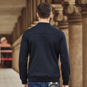 Image 4 - Pioneer Camp warme dicke fleece hoodies männer marke kleidung feste beiläufige zipper sweatshirt männlichen qualität 100% baumwolle schwarz 622215