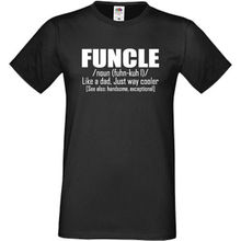 Funcle T Shirt Funny Gift Present For Fun Uncle Birthday Christmas Xmas Top Tee 100% Cotton Humor Men Crewneck Shirts
