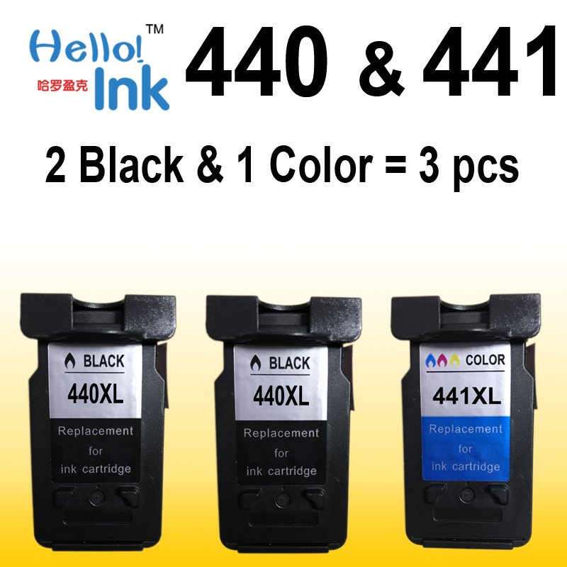 3pcs PG440 CL441 XL For Canon PG 440 PG-440 CL 441 Ink Cartridge use for PIXMA MX374 MX394 MX434 MX454 MX474 MX514 MX524 MX534