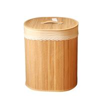 Bamboo Storage Basket Natural Collapsible Laundry Hamper Creative Household Cosmetics Storage Case Portble Sundries Organizer