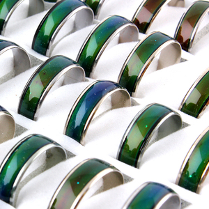 Image 5 - 100pcs Wholesale  Change Color Mood Rings Temperature Changable Color Ring Free Shipping+Display box