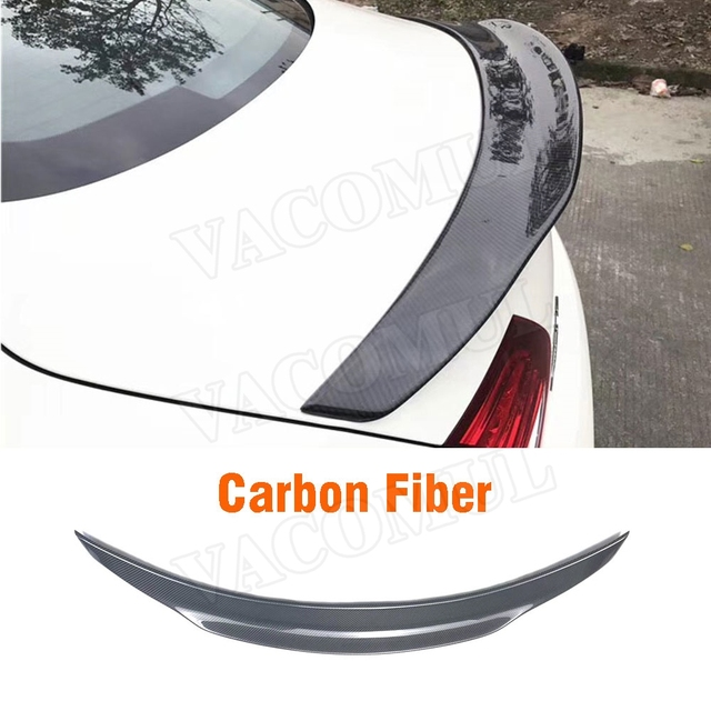 C Class Carbon Fiber Black Rear Trunk Spoiler Wing for Mercedes for Benz W205 C63 AMG 2015-2017 P Style