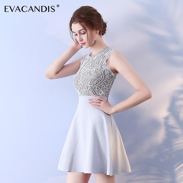 c540e2da08d2c0 Short Sleeveless Lace Dress Elegant Sundress Korean Summer Mini Prom  Evening Party Christmas Dress Women Vestidos de fiesta