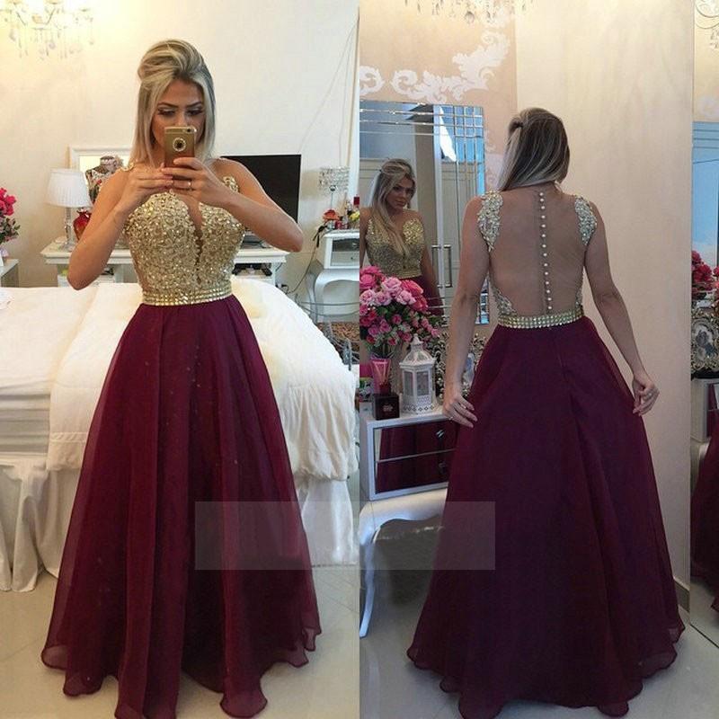 Vestidos Longo Appliques Lace Burgundy Gold Champagne Red Bridesmaid ... 014226d7eb9e