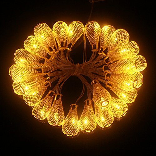 1m 2m 3m 4m battery christmas garland led string christmas lights fairy xmas party garden wedding - Teardrop Christmas Lights