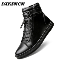 DXKZMCM Genuine leather Autumn Men Boots Winter Waterproof Ankle Boots Snow Boots Outdoor Working Boots Men Shoes