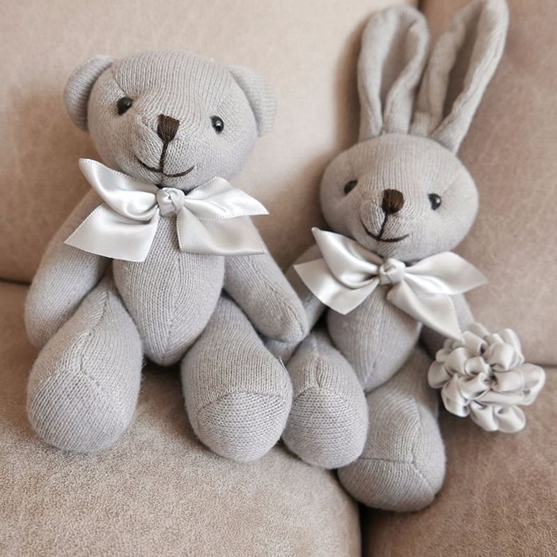 1PCS Baby Play Soft Plush Toys High Quality Lovely Bear Rabbit Appease Doll Baby Dolls Hold Muppet Toys