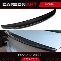 A4 RS4 car styling Real Carbon Fiber spoiler For audi A4 B8 S4 2009 2012 Car Rear Wing trunk spoiler A4 Caracter style