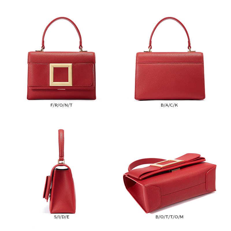 EMINI HOUSE квадратная сумочка с застежкой роскошные сумки женские сумки дизайнерские спилок кожаные сумки через плечо для женщин сумка-мессенджер