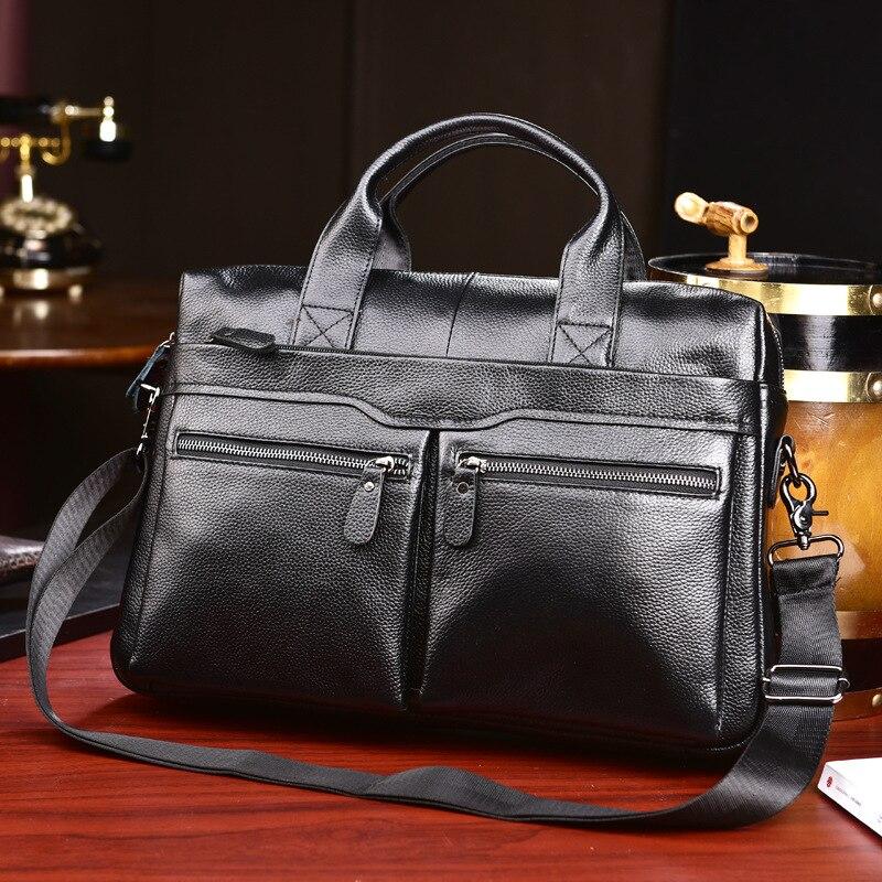 HTB1.IWgL4TpK1RjSZFKq6y2wXXa9 New Luxury Cow Genuine Leather Business Men's Briefcase Male Briefcase Shoulder Bag Men's Messenger Bag Tote Computer Handbag