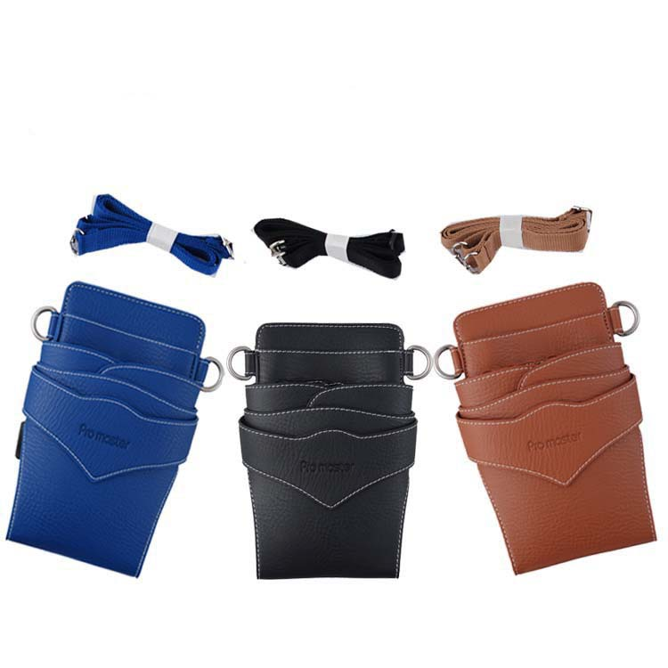 PU Leather Barber Hair Scissor Bag Hairdressing Holster Pouch Holder Case with Waist Shoulder Belt cut out shoulder bag with inner pouch