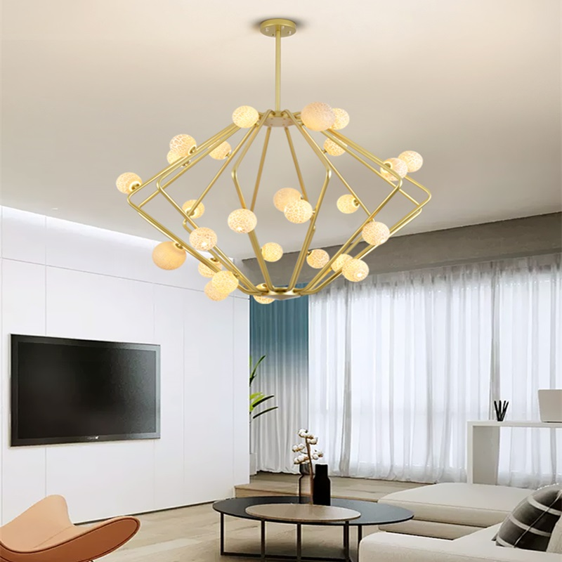 Lights & Lighting Post-modern Led Novelty Chandelier Nordic Fixtures Glass Ball Illumination Living Room Hanging Lights Restaurant Suspended Lamps High Quality And Inexpensive