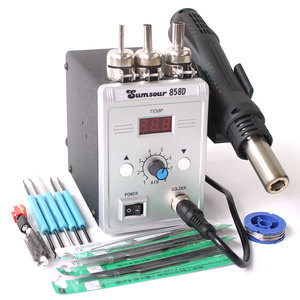 Image 4 - Soldering Hot Air Gun 858D 220V 110V 700W Adjustable Digital Display Heat Gun BGA SMD Rework Solder Station