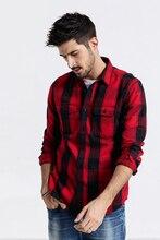 SIMWOODลายสก๊อตชาย2020ฤดูใบไม้ร่วงแฟชั่นStreetwearเสื้อแขนยาวเสื้อSlim Fit 100% Cotton Camisa Masculina 190063