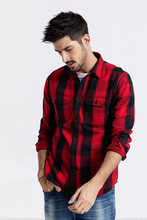 Simwood casual xadrez camisa masculina 2020 outono moda streetwear camisas de manga longa fino ajuste 100% algodão masculina 190063