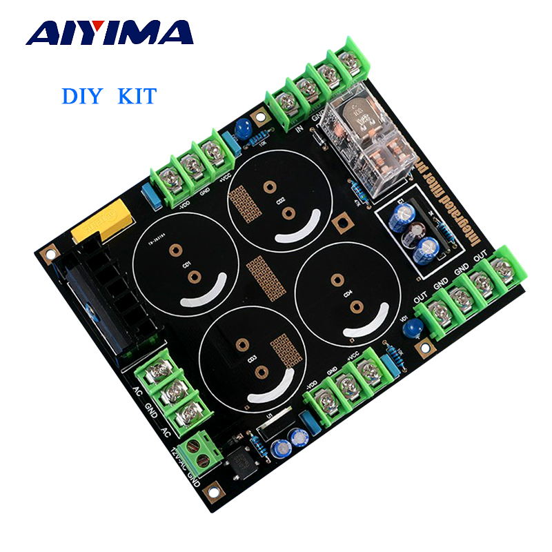 Aiyima Amplifier Rectifier Filter Power Supply Board Speaker Protection Rectifier Filter Diy Kit music hall clone dartzeel nhb 108b amplifier power rectifier filter speaker protect diy kit free shipping