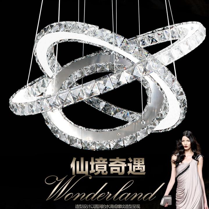 Gyémánt kristály gyűrűs LED csillár kristály lámpa modern - Beltéri világítás