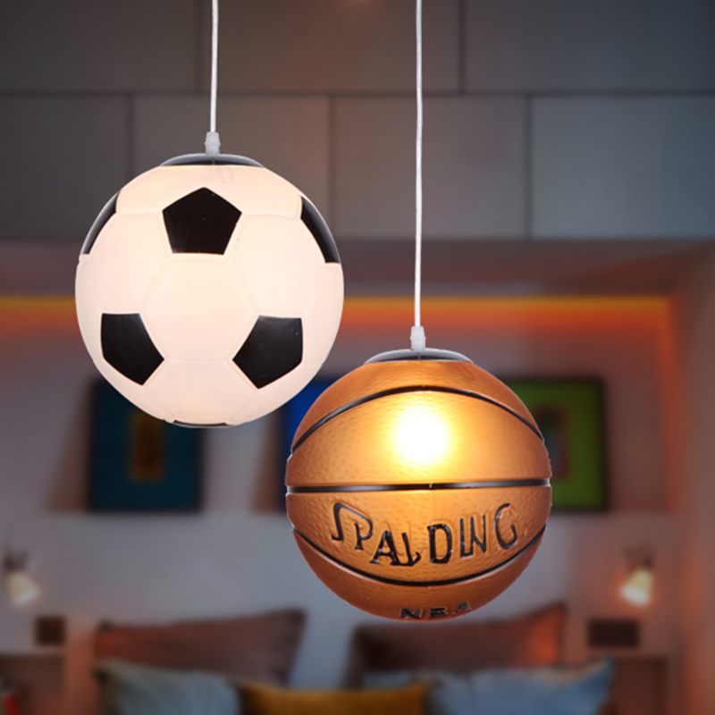 Basketball soccer chandelier aisle lights children's bedroom lights personalized cartoon room chandeliers restaurant stadium vintage clothing store personalized art chandelier chandelier edison the heavenly maids scatter blossoms tiny cages
