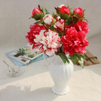 2pcs Artificial Flower Artificial Blossom Tree Flower Blossom Common Peony Artificial Tree Wedding Decoration Flower