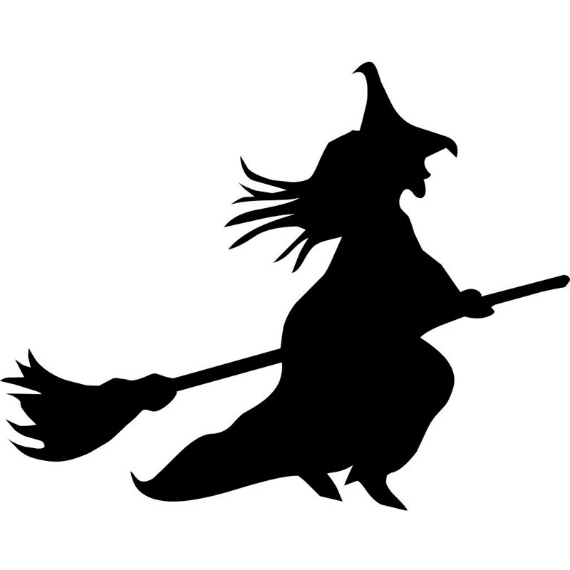 14 см * 11 см с рисунком Witch виниловые наклейки в виде Фотообоев c переводными картинками автомобиля Стикеры черный/серебристый забавные авто-С...