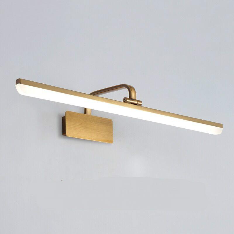American Retro Brozen Acryl Led Wall Lamp For Bathroom Mirror Light Cabinet Makeup Flexible 33 43 56 72cm 1602