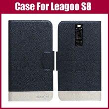Лидер продаж! Leagoo S8 случае Новое поступление 5 цветов модные ультра-тонкий кожаный защитный чехол для leagoo S8 случае