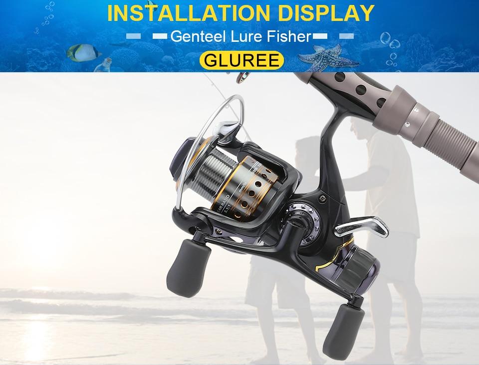 GLUREE Saltwater Spinning Fishing Reel 5.51 9+1BB Metal Spool Sea Boat Dual Brake Carp Fishing Reels With Extra Spool 3000-5000 (22)