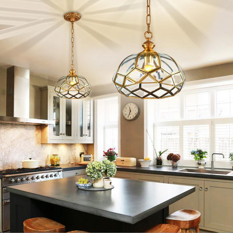 Dining Room Rural Bronzed Pendant Light Country House