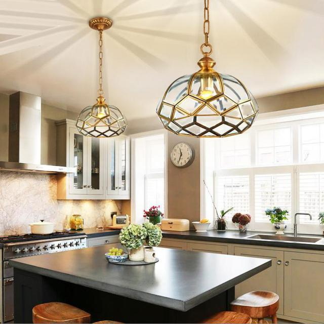 dining room Rural bronzed pendant light country house ...