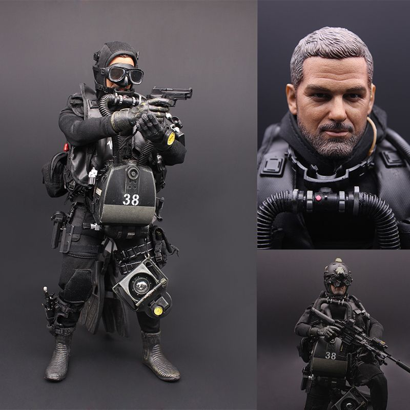 Toys For Big Boys >> 1:6 United States USSOCOM NAVY SEAL UDT frogmen Soldier Set Military Action Figure Toy Scale ...