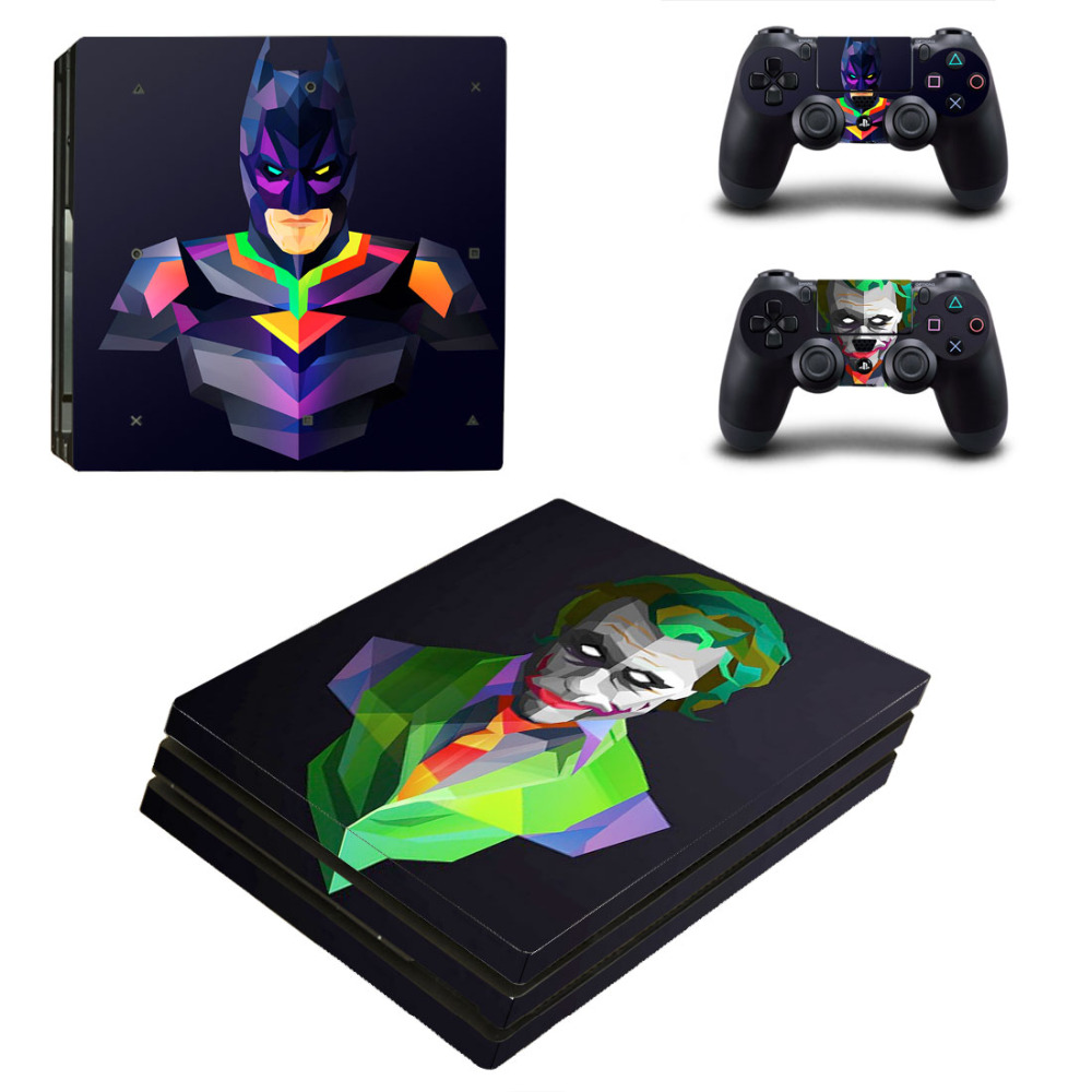 Scrwal bat man and joker For PS4 Pro Skin Sticker For Sony Playstation 4 Pro Decal Vinyl sticker free shipping