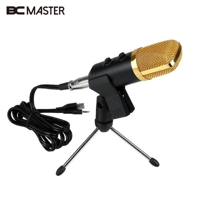 BM-100FX компьютер USB проводной аудио звук студия ПК конденсаторный Запись микрофон караоке MIC microfono condensador с w/стенд