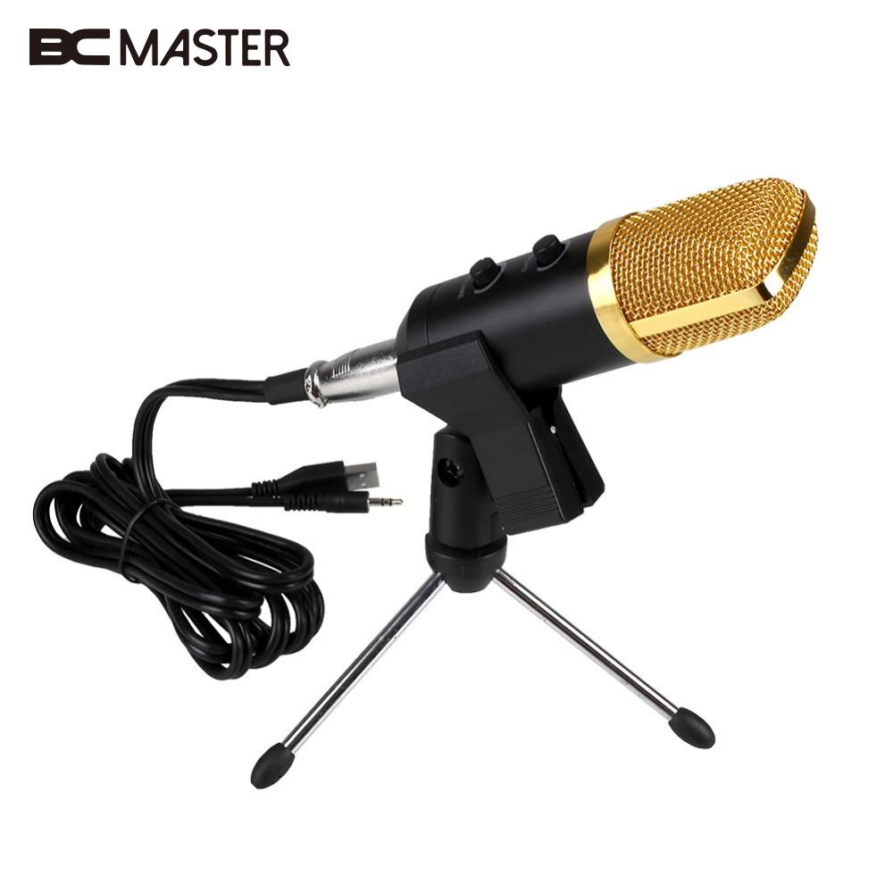 BM-100FX Computer USB Wired Audio Sound Studio PC Condenser Recording Microphone karaoke MIC microfono condensador with w/ Stand professional condenser microphone bm 800 bm 800 cardioid pro audio studio vocal recording mic 48v phantom power usb sound card
