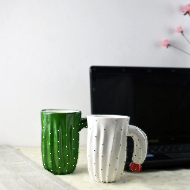 office mug. Innovative Cactus Ceramic Mug Coffee Milk Tea With Handle Water Drinking Office Home Drinkware 0