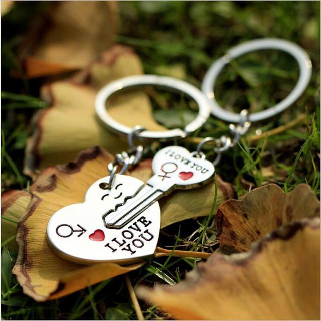 1 Par Amantes Chave a Meu Coração Chaveiro Dia Dos Namorados Casamento Favores E Presentes Lembranças de Casamento Evento & Party suprimentos