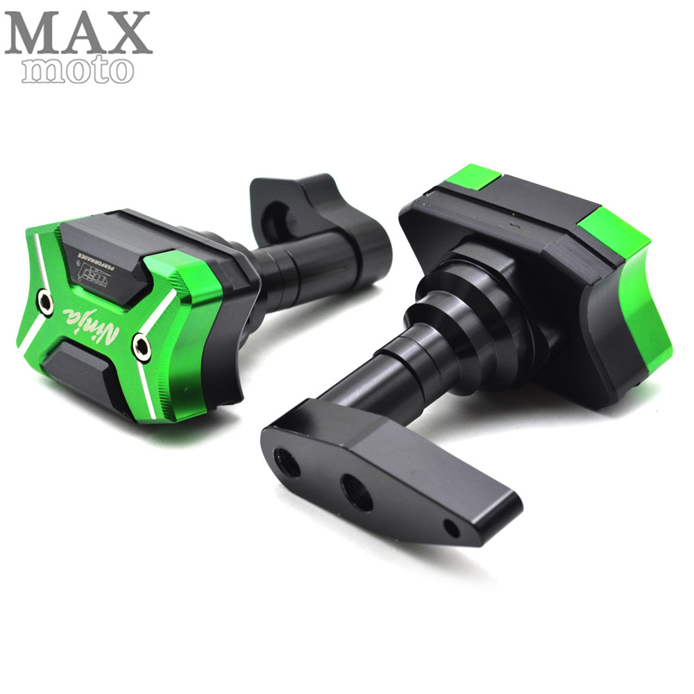 CNC aluminum Motorcycle Frame Sliders Crash Engine Guard Pad Aluminium Side Shield Protector For Kawasaki ER-6N 2012 2013-2016 motorcycle frame sliders crash engine guard pad aluminium side shield protector for kawasaki ninja zx6r 636 2009 2010 2011 2012